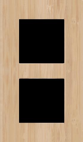 double plaque de recouvrement de 60 mm d 39 entraxe verticalement pure bamboo. Black Bedroom Furniture Sets. Home Design Ideas