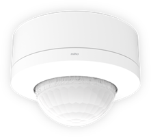 High ceiling detector, 360°, 230 V, 40 m, master, for surface mounting