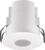 Flat presence or absence detector, 360°, master, with 2 potential-free contacts, 12 m, for flush mounting