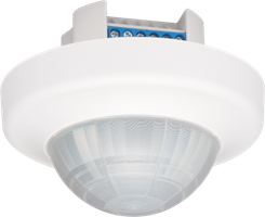 Presence or absence detector, 360°, 230 V, 24 m, slave, for flush mounting