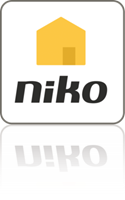 Bedieningsapp voor smartphone of tablet Niko Home Control II