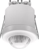 Detector with 3 zone DALI daylight control and extra functionalities, 360°, 24 m, slave, for flush mounting