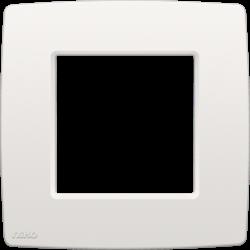 Niko Original White.Single Flush Surround Plate Original White