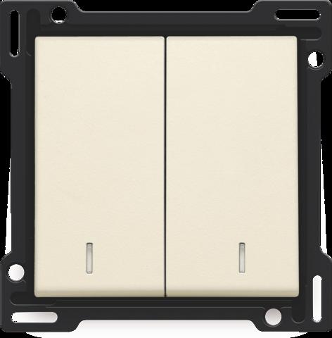 set de finition avec double voyant pour interrupteur. Black Bedroom Furniture Sets. Home Design Ideas