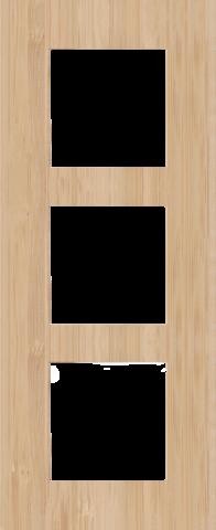 triple plaque de recouvrement de 60 mm d 39 entraxe verticalement pure bamboo. Black Bedroom Furniture Sets. Home Design Ideas