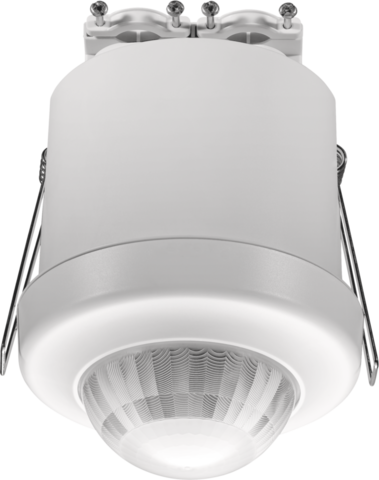 Detector with 3 zone DALI daylight control and extra functionalities, 360°, 32 m, master or stand-alone, for flush mounting in high ceilings