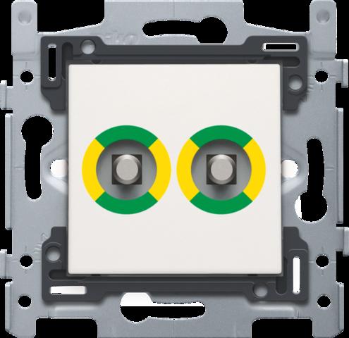 Prise de courant avec double prise quipotentielle socle et set de finition - Socle prise de courant ...
