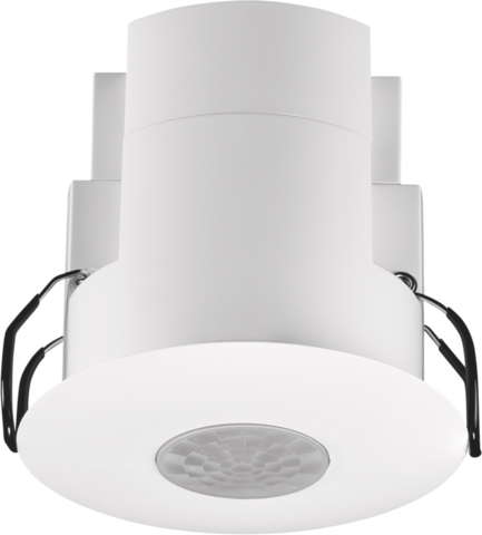 Flat presence or absence detector with 3 zone DALI daylight control, 360°, 12 m,  master, for flush mounting