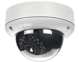 Outdoor surface-mounting dome camera with video transmitter