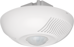 Presence detector dual tech, 360°, 230 V, 19 m, slave, for flush-mounting box
