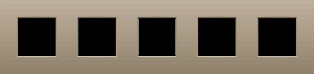 quintuple plaque de recouvrement de 71 mm d 39 entraxe intense bronze. Black Bedroom Furniture Sets. Home Design Ideas